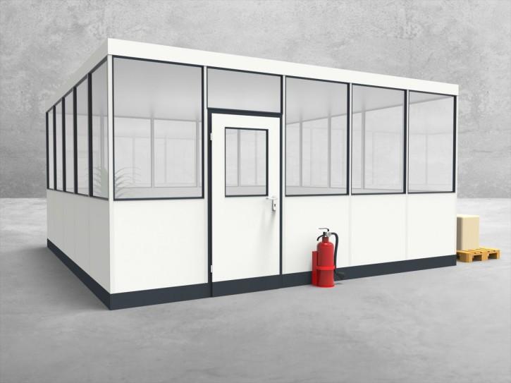 Hallenbüro 4-seitig 5,00 x 5,00 m 25 m² (HB4-5050)