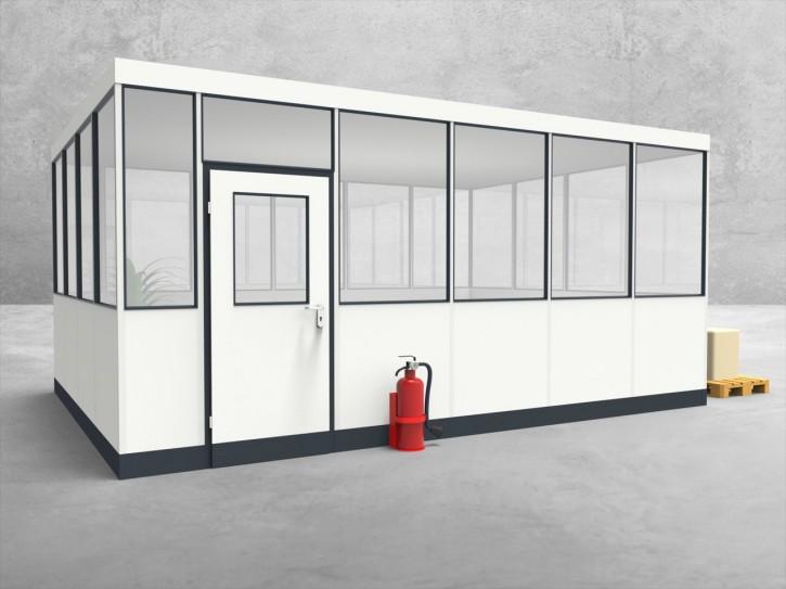 Hallenbüro 4-seitig 5,50 x 4,00 m 22 m² (HB4-5540)