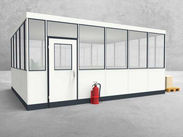 Hallenbüro 4-seitig 5,50 x 4,50 m 24,75 m² (HB4-5545)