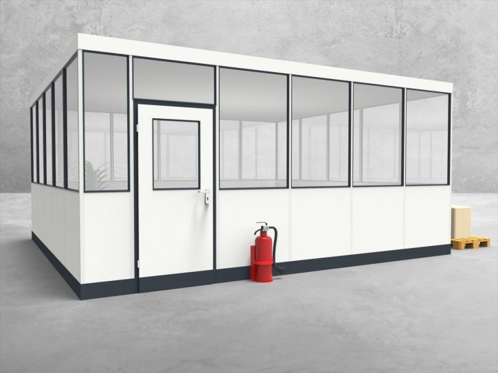 Hallenbüro 4-seitig 5,50 x 5,00 m 27,5 m² (HB4-5550)