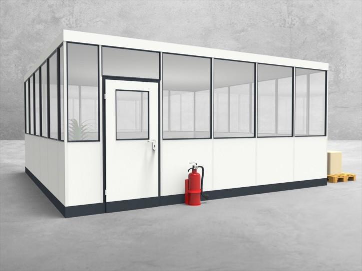 Hallenbüro 4-seitig 5,50 x 5,50 m 30,25 m² (HB4-5555)
