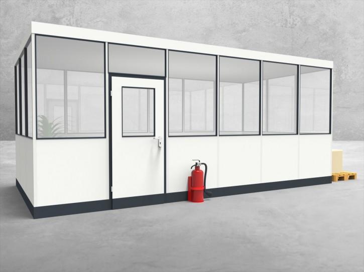 Hallenbüro 4-seitig 6,00 x 3,00 m 18 m² (HB4-6030)