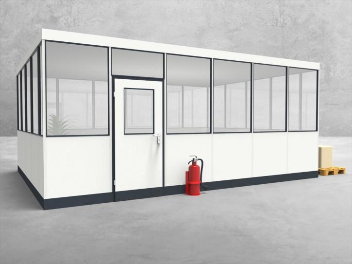 Hallenbüro 4-seitig 6,00 x 4,50 m 27 m² (HB4-6045)