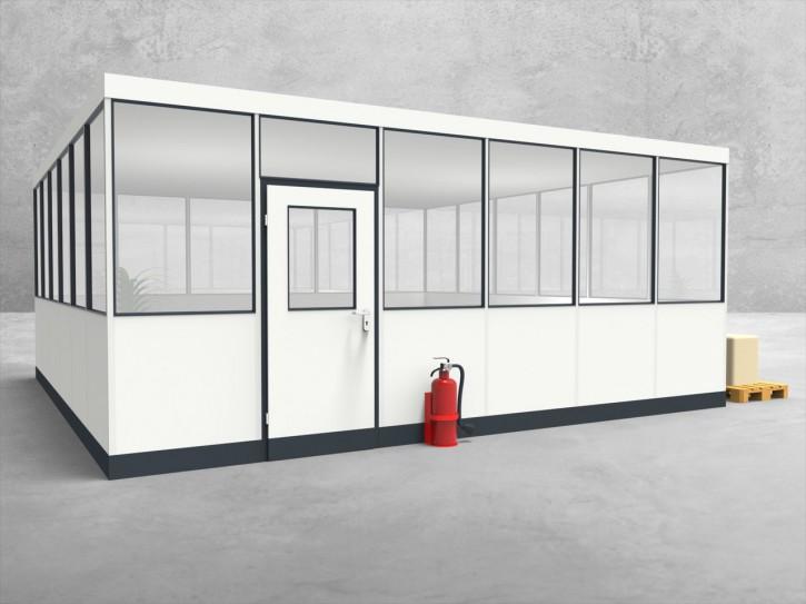 Hallenbüro 4-seitig 6,00 x 6,00 m 36 m² (HB4-6060)