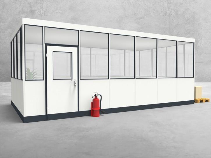 Hallenbüro 4-seitig 6,50 x 3,50 m 22,75 m² (HB4-6535)