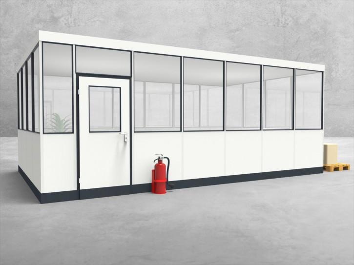 Hallenbüro 4-seitig 6,50 x 4,00 m 26 m² (HB4-6540)