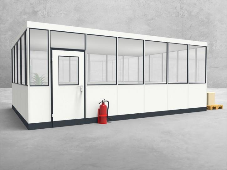 Hallenbüro 4-seitig 6,50 x 4,50 m 29,25 m² (HB4-6545)