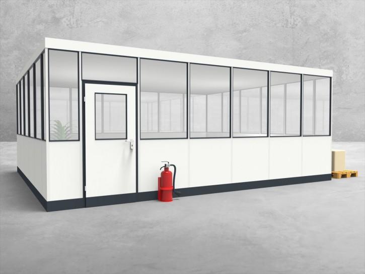 Hallenbüro 4-seitig 6,50 x 5,50 m 35,75 m² (HB4-6555)