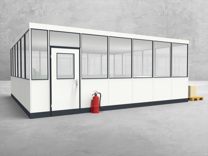 Hallenbüro 4-seitig 6,50 x 6,00 m 39 m² (HB4-6560)