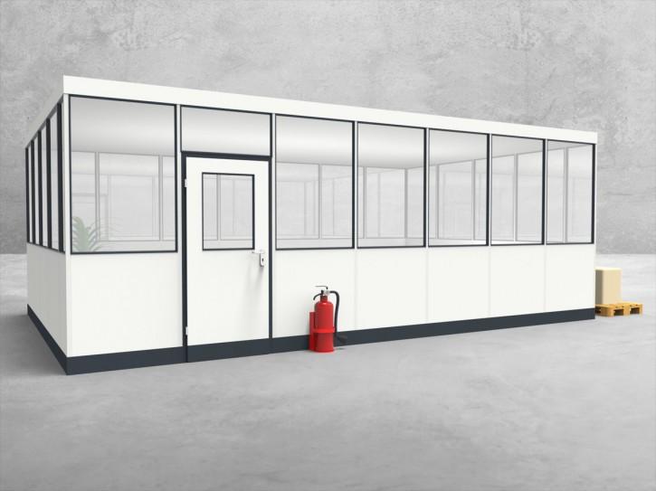 Hallenbüro 4-seitig 7,00 x 4,50 m 31,5 m² (HB4-7045)