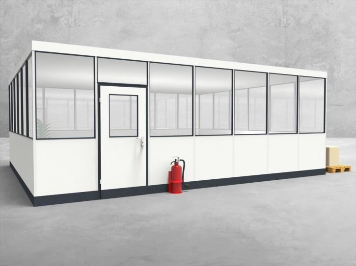 Hallenbüro 4-seitig 7,00 x 6,00 m 42 m² (HB4-7060)