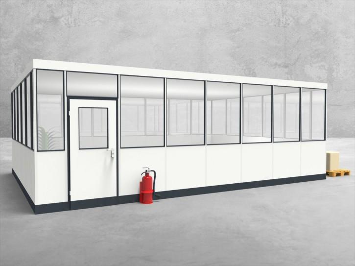 Hallenbüro 4-seitig 7,50 x 5,50 m 41,25 m² (HB4-7555)