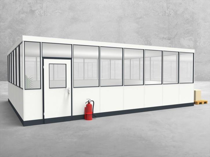 Hallenbüro 4-seitig 7,50 x 6,00 m 45 m² (HB4-7560)