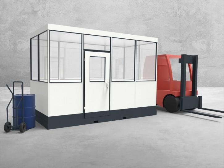 Mobiles Hallenbüro 4-seitig 4,00 x 2,00 m 8 m² (HM4-4020)