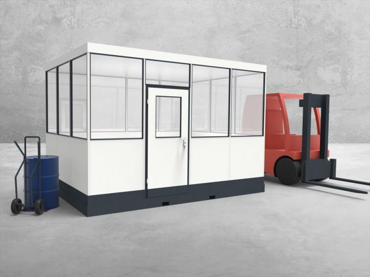 Mobiles Hallenbüro 4-seitig 4,00 x 3,00 m 12 m² (HM4-4030)
