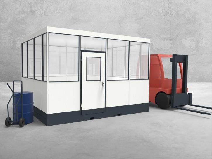 Mobiles Hallenbüro 4-seitig 4,00 x 3,50 m 14 m² (HM4-4035)