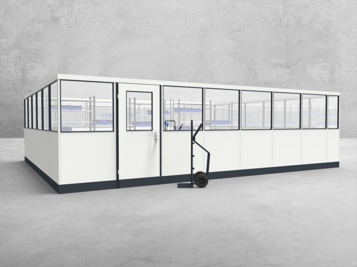 Stellwand 4-seitig 7,50 x 6,00 m 45 m² (SW4-7560)