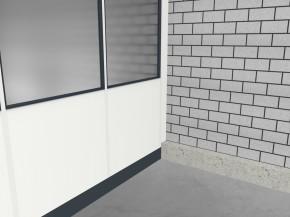 Hallenbüro 3-seitig 3,50 x 2,50 m 8,75 m² (HB3-3525)