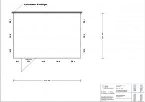Hallenbüro 3-seitig 4,50 x 3,00 m 13,5 m² (HB3-4530)