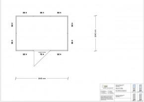 Hallenbüro 4-seitig 3,00 x 2,00 m 6 m² (HB4-3020)