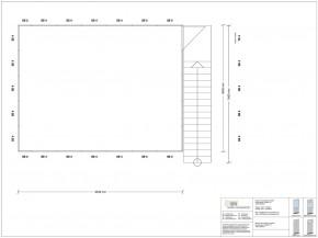 Hallenbüro als Doppelstock 4-seitig 6,50 x 5,00 m 32,5 m² (HD4-6550)