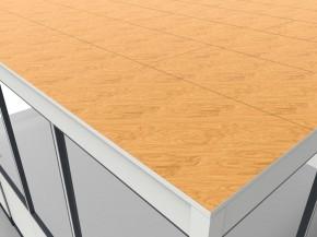 Hallenbüro als Doppelstock 4-seitig 7,50 x 4,50 m 33,75 m² (HD4-7545)