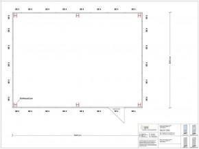 Hallenbüro als Doppelstock 4-seitig 7,50 x 5,50 m 41,25 m² (HD4-7555)