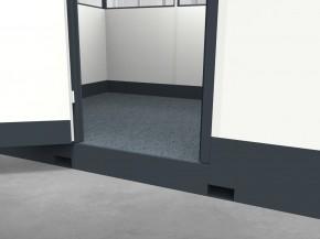 Mobiles Hallenbüro 4-seitig 4,00 x 2,50 m 10 m² (HM4-4025)