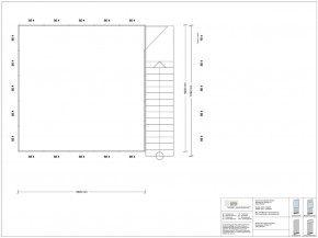 Hallenbüro auf Stahlbau 4-seitig 5,00 x 5,00 m 25 m² (HS4-5050)